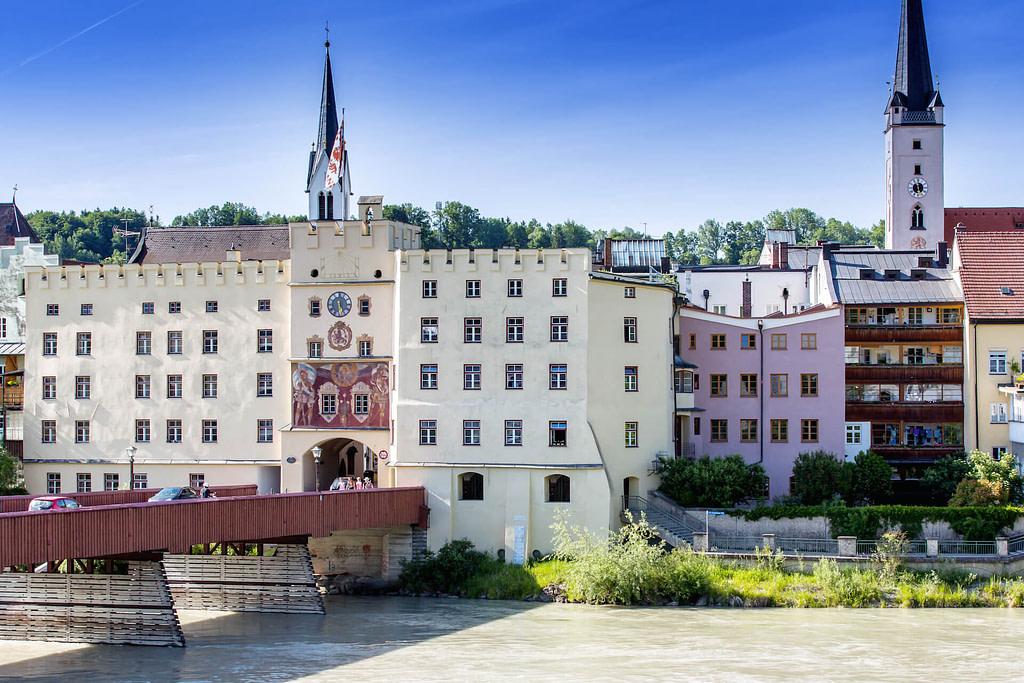 Unsere Anwaltskanzlei in Wasserburg - Blick auf das Brucktor