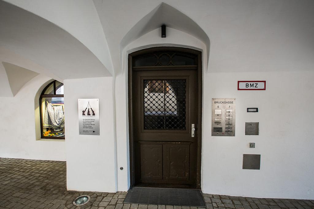 Unsere Anwaltskanzlei in Wasserburg - der Eingang zu unseren Kanzleiräumen